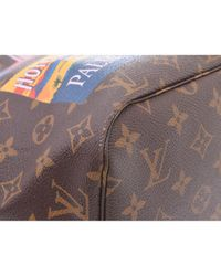 Louis Vuitton Black Neverfull Leinen Handtaschen