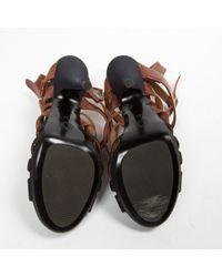 Dries Van Noten Brown Leather Sandals
