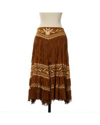 Ralph Lauren Collection Brown Pre-owned Maxi Skirt