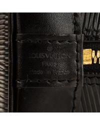 Sac à main Alma en Cuir Noir Louis Vuitton en coloris Black