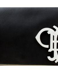 Bolsa clutch en cuero negro Emilio Pucci de color Black