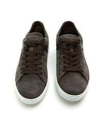 Tod's Multicolor Pre-owned Anthracite Suede Trainers