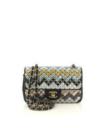 Bolso de Cuero Chanel de color Multicolor