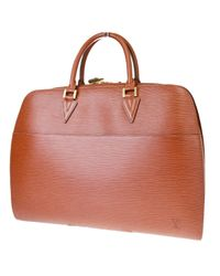 Borsa a mano in pelle marrone Sorbonne Vintage di Louis Vuitton in Brown