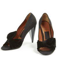 Escarpins \N en Velours Noir Lanvin en coloris Black