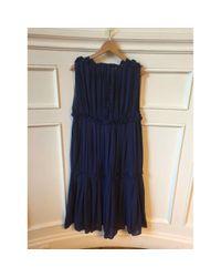Bottega Veneta \n Blue Cotton Dress