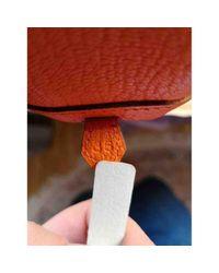 Hermès Orange Plume Leder Handtaschen