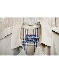 Burberry Mantel Polyester Beige in Natural für Herren