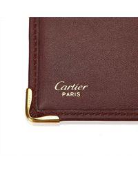 Cartera de Cuero Cartier de color Red