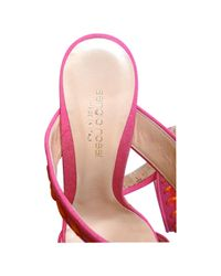 Sergio Rossi Multicolor Pumps Leintuch Rosa