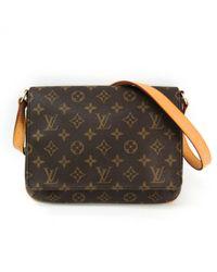 Louis Vuitton Brown Musette Tango Leinen Handtaschen