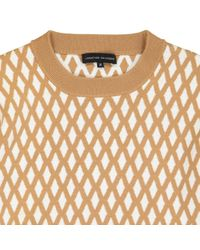 Maglione. Gilet in lana marrone di Jonathan Saunders in Brown