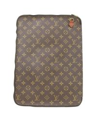 Louis Vuitton Brown Pre-owned Computer Case