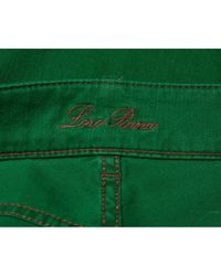 Pantaloni in denim - jeans verde di Loro Piana in Green