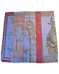 Hermès Pink Carré Silk Silk Handkerchief