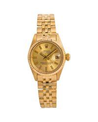 Rolex Metallic Lady Oyster Perpetual 26mm Gelbgold Uhren