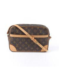 Louis Vuitton Brown Trocadéro Leinen Handtaschen