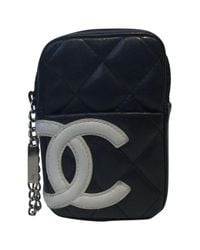Chanel Black Cambon Leder Clutches
