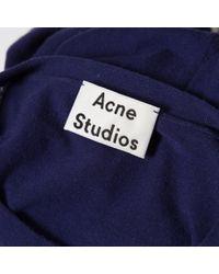 Jersey en algodón marino Acne de hombre de color Blue