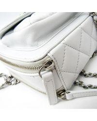 Borsa a mano in pelle bianco Timeless/Classique di Chanel in White