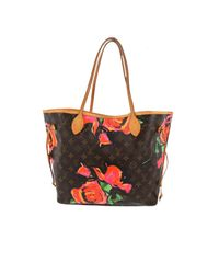 Louis Vuitton Brown Neverfull Leder Handtaschen