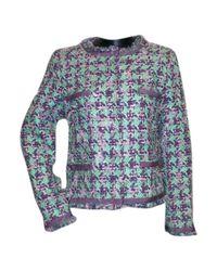 Moschino Purple Wolle Blouson