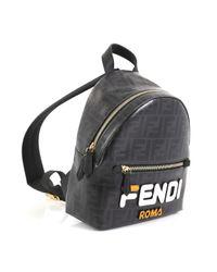 Fendi \n Black Cloth Backpack