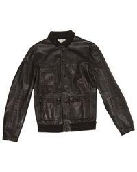 Golden Goose Deluxe Brand \n Black Leather Jacket for men