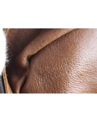 Louis Vuitton Brown Leinen Handtaschen