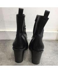 Alexander Wang Black Leder Stiefeletten
