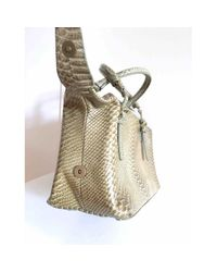 Bottega Veneta Gray Python Handtaschen