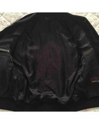 Roberto Cavalli \n Black Leather Jacket for men