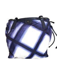 Burberry Blue Leinen Handtaschen