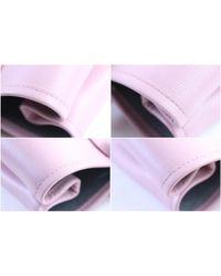Longchamp Pink Roseau Leder Handtaschen