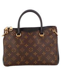 Louis Vuitton Brown Pallas Leinen Shopper