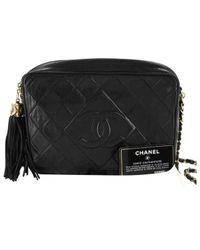 Chanel - Black Camera Leather Handbag - Lyst