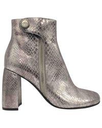 Stella McCartney - Metallic Ankle Boots - Lyst