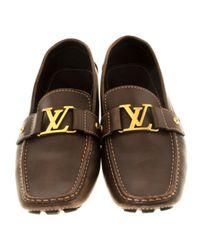 Louis Vuitton Monte Carlo Leder Mokassins in Brown für Herren