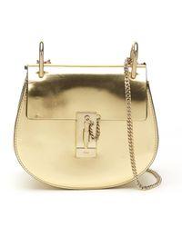 Chloé - Metallic Pre-owned Drew Leather Handbag - Lyst