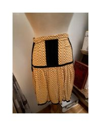 Dries Van Noten Yellow Seide Halblang Rock