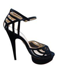 Charlotte Olympia Black Suede Heels