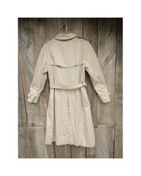 Burberry Natural Beige Cotton Trench Coat