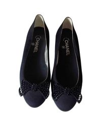 Chanel Pre-owned Black Cloth Ballet Flats