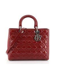 Dior Red Lady Leder Cross Body Tashe