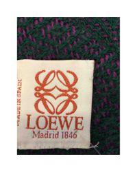 Loewe Multicolor \\n Multicolour Wool Scarf