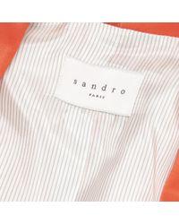 Sandro Orange Viscose Jacket