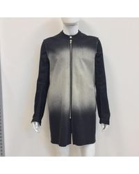 Rick Owens Black Cotton Coat for men