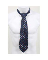 Ferragamo Blue Silk Tie for men
