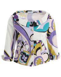Emilio Pucci Blue \n Multicolour Cotton Jacket