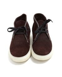 Lanvin \n Brown Leather Trainers for men